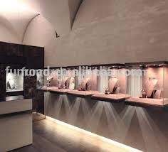Quality Jewelry Display Cases Wall Mounted Glass Cubes With LED Lights For Shop Design