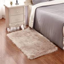 kaihong faux lammfell schaffell teppich 50 x 150 cm modern