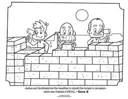 Nehemiah Coloring Page Children Wall Awesome Ideas