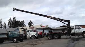National 6T56 Boom Truck Crane On A 1991 GMC Topkick - YouTube