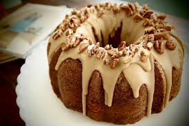 Apple Cream Cheese Bundt Cake with Praline Frosting