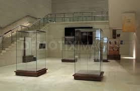 Inside Empty Display Cases