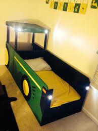 John Deere Bedroom Decor by John Deere Tractor Bed I Built For My 18 Month Old He Loves It