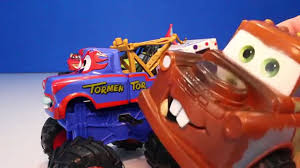 Maters MONSTER TRUCK SET Toys Video For Kids | Monster Truck Toy ... 8cm New 148 Scale Pixar Cars Toys Star Wars Version Mater As Darth Monster Trucks Lightning Mcqueen Tow Disney Color Sold Out Xtreme Monster Truck Samko And Miko Toy Warehouse Toons Maters Tall Tales Iscreamer In Play Doh Charactertheme Toyworld Monster Trucks Clipart Power Punch Xl Wrestling 2013 Tmentor Easy On The Eye Grave Digger Feature Grinder Pixar Toon Iscreamer Diecast Truck Mater Ice Toon Wrastlin Hobbies Tv Movie Character Find Radiator Springs 500 12 Diecast Car Offroad