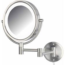 jerdon hl88nl 8 5 led lighted wall mount makeup mirror with 8x