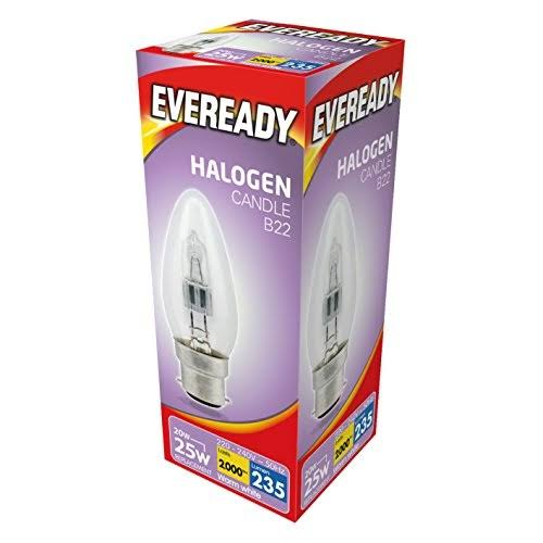 Eveready Eco Halogen Light Bulb - Candle, B22, 25W