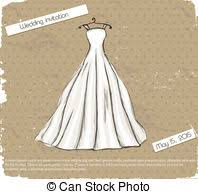 Vintage poster with beautiful wedding dress