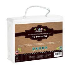 Toddler Bed Mattress Topper by Waterproof Bamboo Crib Mattress Pad U2013 Bebé Owl