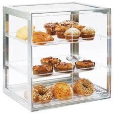 Cal Mil 3413 55 Urban 3 Tier Stainless Steel Bakery Display Case