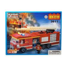 Cek Harga 0960160133 Blok Lego Cogo Fire Fighter Truck Blocks ...