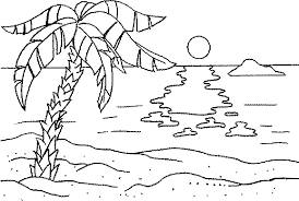 Full Size Of Coloring Pagecoloring Page Beach Drawing 28 Pages Sunset