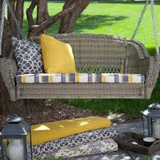 Porch Swing Cushions Made Wicker — Jbeedesigns Outdoor