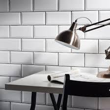 metro white wall tile 10x20cm tile trader