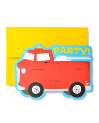 ZM DC INVITE: FIRE TRUCK 10CT Fire Truck Firefighter Birthday Party Invitation Cards Invitations Firetruck Themed With Free Printables How To Nest Book Theme Birthday Invitation Printable Party Invite Truck And Dalataian 25 Incredible Pattern In Excess Of Free Printable Image Collections 48ct Flaming Diecut Foldover By Creative Nico Lala