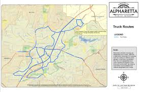 100 Truck Route Map Alpharetta S