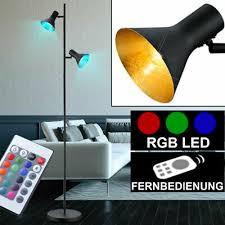beleuchtung rgb led 7w stehleuchte höhe 160 cm textil