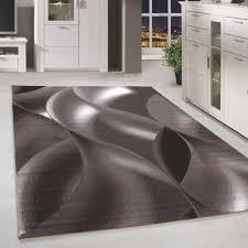 kurzflor teppich design schatten muster wohnzimmerteppich braun beige meliert