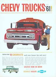 Chevrolet Trucks - Advertisement Gallery Filebig Jimmy 196061 Gmc Truckjpg Wikimedia Commons My Truck Page 61 Chevy And Duramax Diesel Forum Preserved Patina Mark Parhams 1961 Apache 10 Drivgline 11962 Chevy Pickup Projects Suburban Combines The Best Of Both Worlds Highway Chevy Fleetside Pickup C10 Truck 118 Scale Sku 50877 Panel Truck Helms Bakery The Hamb 01961 Apache Grill Delux Chrome Alinum 60 62 63 64 65 66 Led Amber Park Turn Signal Light Build Updates Our 1960 Chevrolet C20 Fleetside Project