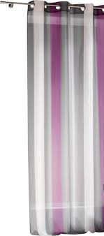 Striped Sheer Curtain Panel Grommet Riviera Multicolored 55