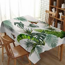 Details About Palm Tree Tablecloth Tropical Plants Dining Table Cover  Rectangular&Square