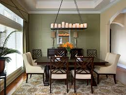Dinning RoomsModern Dining Room With Floral Rug And Wood Cream Chairs Under