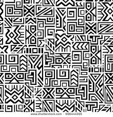 Creative Ethnic Style Square Seamless Pattern Unique Geometric Vector Swatch Perfect For Screen Background
