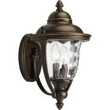 hton bay 1 light zinc outdoor wall lantern hsp1691a the home