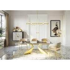 tisch gloria gold 200x100cm kare design