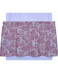 deal alert victoria park toile 68 inch by 30 inch tailored tier