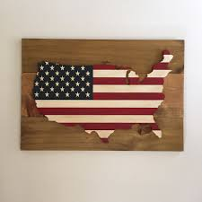 American Flag / USA Wood Sign   American Flag, Plank And Birch Reclaimed Wood Boards Amish Tobacco Lath Rustic Barn Board Primitive Santa Believe Painted Country 25 Unique Wood Crafts Ideas On Pinterest Signs 402 Best Unique Framing Ideas Images Picture Frame Image Result For How To Style The Deer Head Wall Decoration Canada Flag Custom Wood Sign Collection Farmhouse Board Decor Barn And Rseshoe Table Horse Shoe