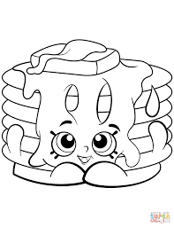 Ultra Rare Strawberry Pancake Shopkin Coloring Page