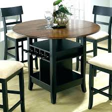 High Dining Room Table Counter Height Round Black Full Size Of Bar