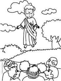 Jesus Ascension Coloring Page