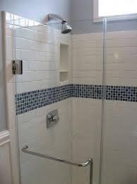 subway tile shower white subway tile bathroom with belfast sink