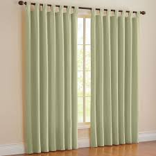 Brylane Home Curtain Panels by Brylanehome Studio Cotton Canvas Solid Tab Top Panel Curtains