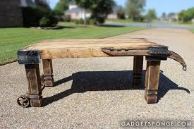horse hame and caster barn wood coffee table hometalk