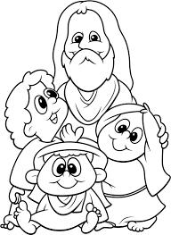 Popular Jesus And Children Coloring Page Best Design