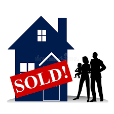 Download Homebuyer Family First House Stock Illustration