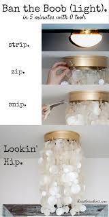 Uno Fitter Replacement Lamp Shade by 2 Diy Light Fixtures Tutorials To Modernize Light Flush
