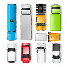 100 Free Cars And Trucks Realistic Top View Set Isolated Vector Illustration