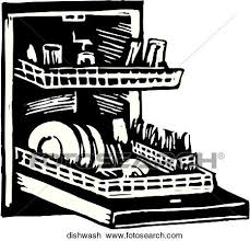 Clipart Of Dishwasher Dishwash