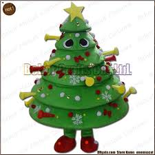Christmas Tree Mascot Costume EMS Cheap High Quality Carnival Party Fancy Plush Walking Cartoon Adult Size