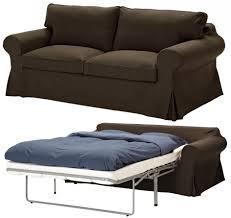 Brown Leather Sofa Bed Ikea by Ikea Ektorp Sofa Sleeper 2 Seat Slipcover Svanby Brown Color