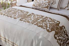Lili Alessandra Mozart White Linen and Straw Velvet Bed Throw and
