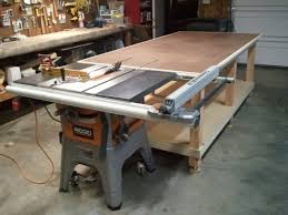 my 4x8 rolling work bench outfeed jpg woodworking projects