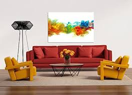 glasbild motiv color wohnzimmer modern querformat rechteckig