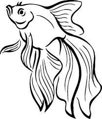 Beta Fish Coloring Page