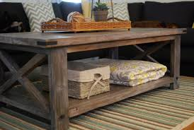 New Rustic Coffee Table Throughout Ana White X DIY Projects Decorations 7