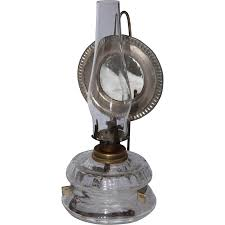 Oil Lamp Chimney Glass Replacement Canada by 19th Century Victorian Kerosene Lamp With Handblown Glass And From