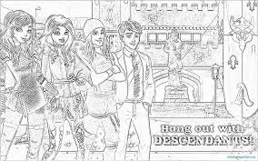 Descendants Coloring Pages To Print Of Mal 18 Dove Monumental Cameron